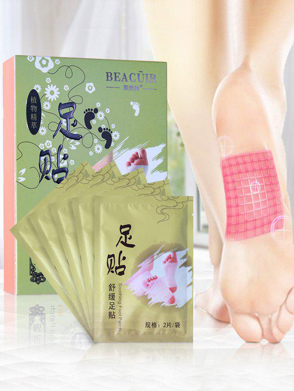 Bamboo Vinegar Essence Detox Foot PatchBEAUTY<br><br>Color: GREEN; Item Type: Foot Patch; Size: 25 x 20  x 15CM; Weight: 0.0100kg; Package Content: 1 x Foot Patch (Box);