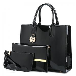 3 Picecs Patent Leather Handbag Bag
