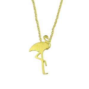 Crane Shape Charm Pendant Necklace