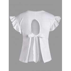 Ruffle Sleeve Tied Back Short Top