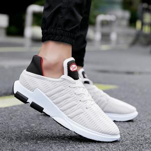 Tie Up Breathable Mesh Athletic Shoes