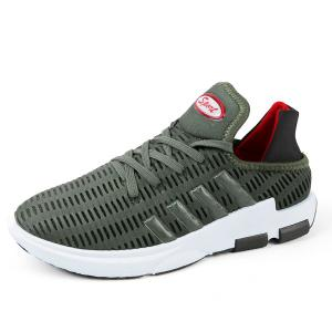 Tie Up Breathable Mesh Athletic Shoes -