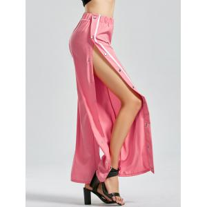 Flare Side Slit Button Up Pants
