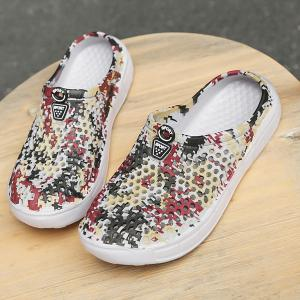 Printed Hollow Out Slippers -