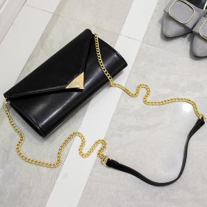 Chian Envelope Crossbody Bag - Noir