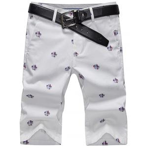 Slim Printed Chino Shorts
