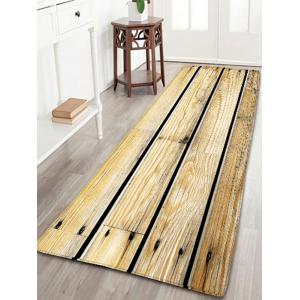 Wood Grain Printed Skidproof Flannel Rug
