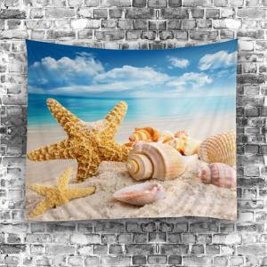 Starfish Conch Beach Style Wall Hanging Tapestry -