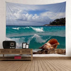 Wall Hanging Sea Wave Conch Tapestry