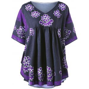 Plus Size Floral Tunic Blouse
