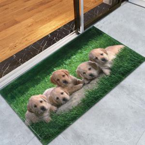 Puppy Pets Coral Velvet Extra Long Bathroom Rug - Green - W24 Inch * L35.5 Inch