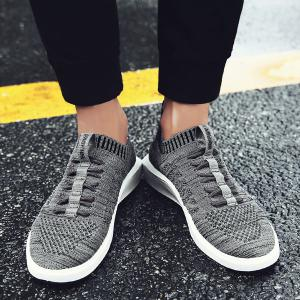 Colour Block Mesh Breathable Casual Shoes -