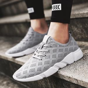 Mesh Breathable Athletic Shoes - GRAY 43