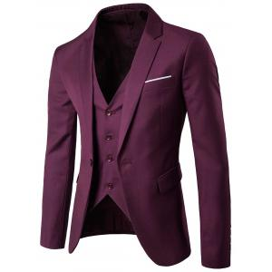 Blazer simple et pantalons Twinset d'affaires - Bordeaux 3XL