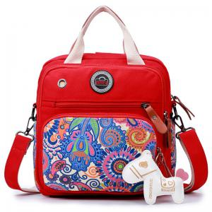 Ethnic Print Canvas Diaper Bag - Red - 38