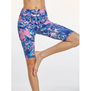 Colorful Pattern Bermuda Fitness Leggings -