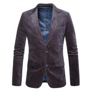 Single Breasted Zipper Pocket Design Blazer