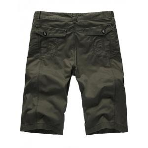 Zipper Fly Casual Slim Chino Shorts -