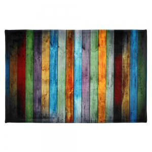 colorful stripe coral velvet large area rug colormix w24 inch l355 inch