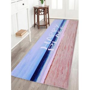 Beach Style Soft Coral Velvet Area Rug - Colormix - W24 Inch * L71 Inch