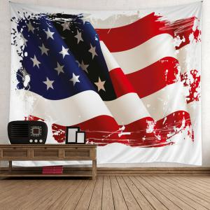 3D Patriotic American Flag Wall Tapestry