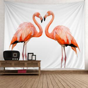 Flamingo Couple Wall Art Tapestry