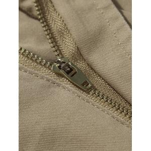 Zipper Fly Chino Cargo Shorts - KHAKI 31