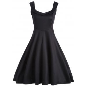 Vintage Fit and Flare Work A Line Dress