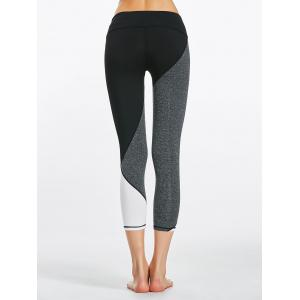 Leggings Capri Colorblock Fitness - Noir S