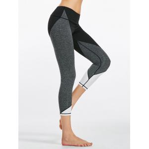 Capri Colorblock  Fitness Leggings - Black - L