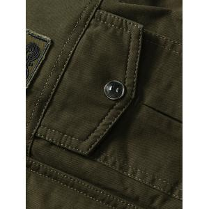 Front Pocket Embroidery Patch Design Jacket -