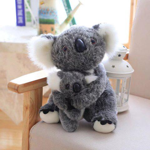 Best Koala Mother and Baby Stuffed Animal Toy LIGHT GRAY