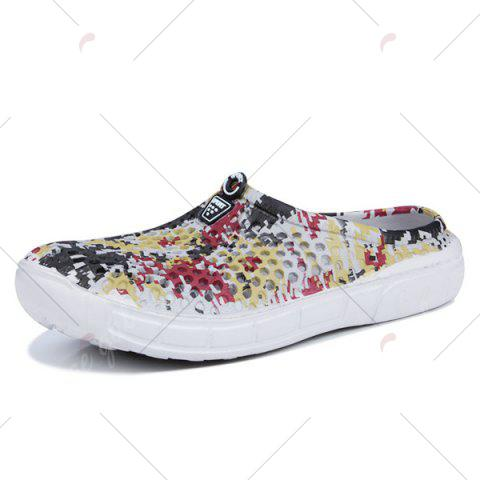 Cheap Printed Hollow Out Slippers - 43 FLORAL Mobile