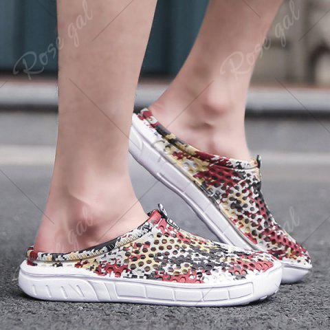 Sale Printed Hollow Out Slippers - 41 FLORAL Mobile
