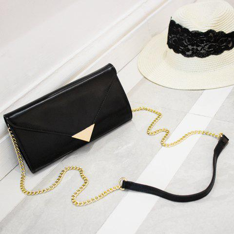 Chian Envelope Crossbody Bag Noir
