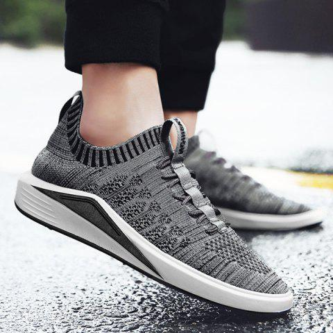 Best Colour Block Mesh Breathable Casual Shoes