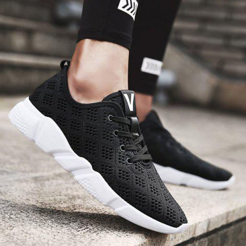 Affordable Mesh Breathable Athletic Shoes BLACK 40