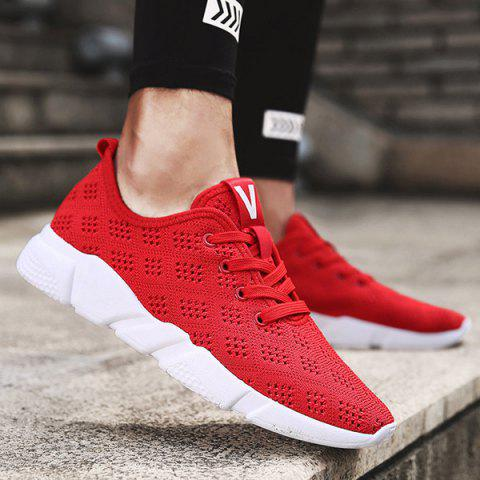 Chic Mesh Breathable Athletic Shoes RED 43