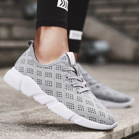 Mesh Breathable Athletic Shoes - Gray - 40