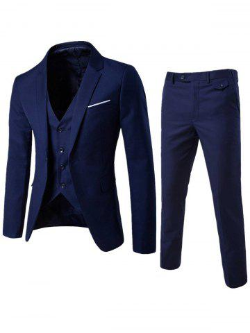 Store Single Button Blazer and Pants Business Twinset - 5XL CADETBLUE Mobile