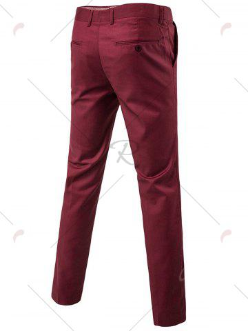 Best Single Button Blazer and Pants Business Twinset - 5XL WINE RED Mobile