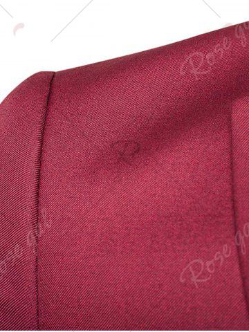 Cheap Single Button Blazer and Pants Business Twinset - 5XL WINE RED Mobile
