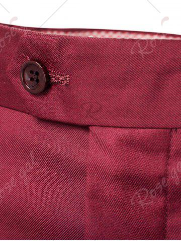 Buy Single Button Blazer and Pants Business Twinset - 5XL WINE RED Mobile