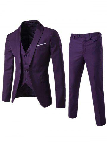 Blazer simple et pantalons Twinset d'affaires Pourpre 5XL