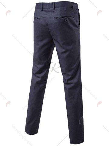 Hot Single Button Blazer and Pants Business Twinset - 5XL DEEP GRAY Mobile