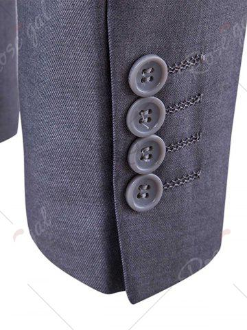 Hot Single Button Blazer and Pants Business Twinset - 5XL LIGHT GRAY Mobile
