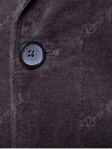 Latest Single Breasted Zipper Pocket Design Blazer - 3XL DEEP GRAY Mobile