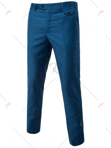 Buy Single Button Blazer and Pants Business Twinset - 5XL OCEAN BLUE Mobile