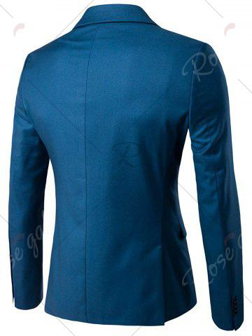 Trendy Single Button Blazer and Pants Business Twinset - 5XL OCEAN BLUE Mobile