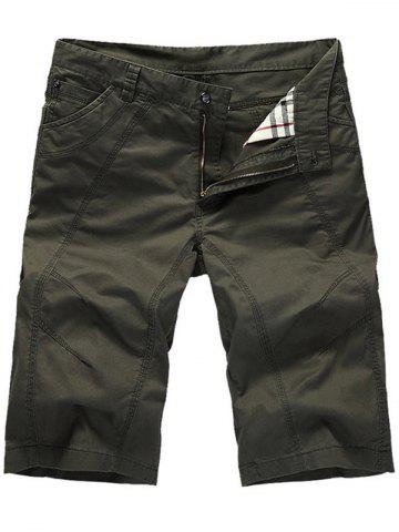 Hot Zipper Fly Casual Slim Chino Shorts